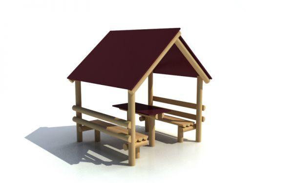 Domček z guľatiny