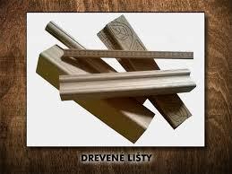 Ozdobné drevené lišty